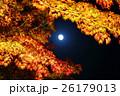 月 満月 月明かりの写真 26179013