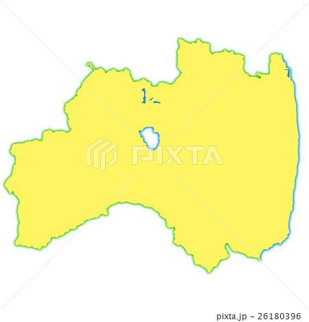 福島県地図のイラスト素材 26180396 Pixta