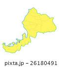 福井県地図 26180491
