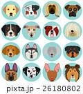 犬 大型犬 顔のイラスト 26180802