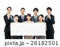 ビジネスマン 若い ホワイトボードの写真 26182501