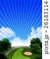 ゴルフ場 イメージCG 26183114