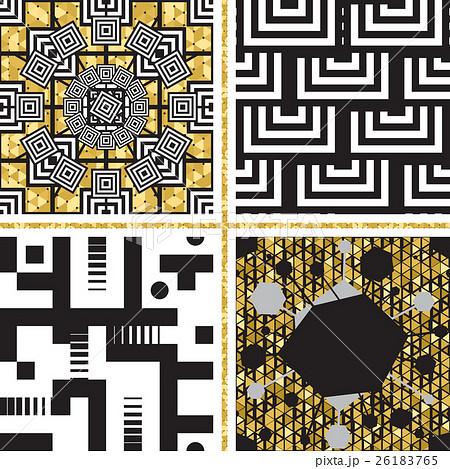 Set of Oriental Patterns with Golden Elementsのイラスト素材 [26183765] - PIXTA