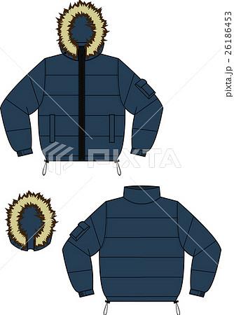 ダウンジャケット イラストベクターのイラスト素材 26186453 Pixta