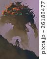 the warrior facing giant multi-head monster 26186477