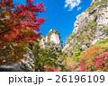 昇仙峡 紅葉 秋の写真 26196109