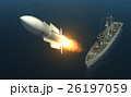 Missile Launch From A Warship On The High Seas 26197059