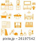 家の中 インテリアと掃除道具 26197542