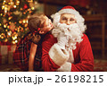 happy child girl hugging Santa 26198215