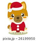 柴犬 犬 クリスマスのイラスト 26199950