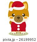 柴犬 犬 クリスマスのイラスト 26199952