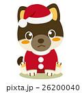 柴犬 犬 クリスマスのイラスト 26200040