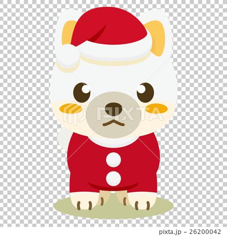 いぬっこ倶楽部 クリスマス 柴犬(白) 26200042