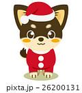 チワワ 犬 クリスマスのイラスト 26200131