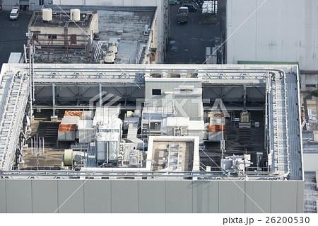 建物 設備 ビルの屋上 空調設備 電力変電設備 携帯電話アンテナ 窓拭きゴンドラレール