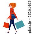 ショッピング 女性 人物のイラスト 26201492