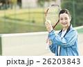 テニス 女性 ポートレートの写真 26203843