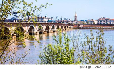 """The Pont de pierre, or """"Stone Bridge"""" in Bordeaux 26211112"""