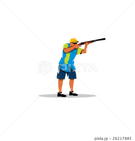 Clay shooting. Vector Illustration. 26217885
