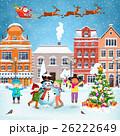 Christmas postcard with vintage street 26222649