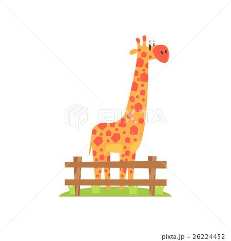 Tall Orange Giraffe With Hexahedron Shaped Spots 26224452