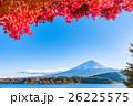 富士山 富士 紅葉の写真 26225575