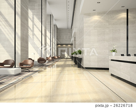 Interior of a hotel reception 3D illustration 26226718