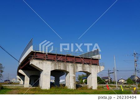 写真素材: 埼玉県道160号川越北環状線 建設中 2016年11月 東武東上線付近