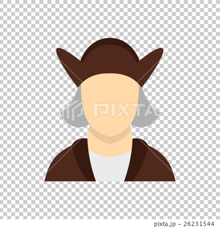 Man wearing in Christopher Columbus costume icon 26231544