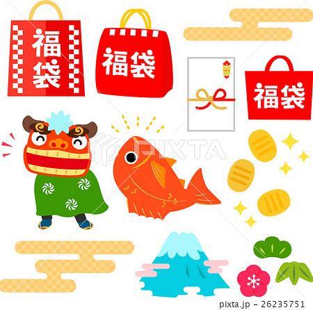 福袋、新春セールのイラストセット 26235751