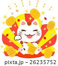 招き猫と小判 26235752