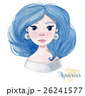 Watercolor horoscope sign aquarius 26241577