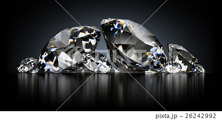 Diamonds on a Black Background 26242992