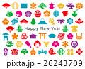 年賀状 日本 アイコン はがきサイズ 26243709