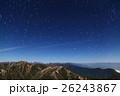 月明かりの北アルプス・常念岳から見る北の星空 26243867