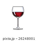 ぶどう酒 ワイン 葡萄酒のイラスト 26248001