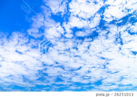 雲 高積雲 積雲 雲片 青い空 一...