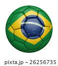 巴西國旗足球特寫,孤立在白色背景中(高分辨率 3D CG 渲染∕著色插圖) 26256735