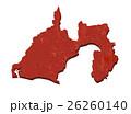 静岡県 和紙加工風 地図 26260140