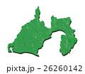 静岡県 和紙加工風 地図 26260142