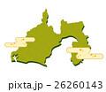 静岡県 和紙加工風 地図 26260143