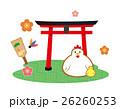 年賀状素材 神社 鳥居のイラスト 26260253