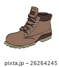Boots for men Hiking on a white isolated 26264245