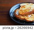 バケットパンでフレンチトースト(粉砂糖と蜂蜜がけ) 26266942