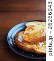バケットパンでフレンチトースト(粉砂糖と蜂蜜がけ) 26266943