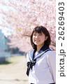 高校生と桜イメージ 26269403
