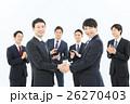 ビジネスマン 握手 契約の写真 26270403