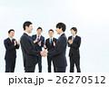 ビジネスマン 握手 契約の写真 26270512