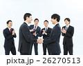 ビジネスマン 握手 契約の写真 26270513