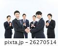 ビジネスマン 握手 契約の写真 26270514